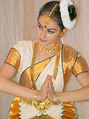 English: A Keralite Dancer in Sari( Mohini Att...