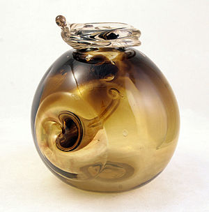 English: Vintage abstract blown glass vessel b...