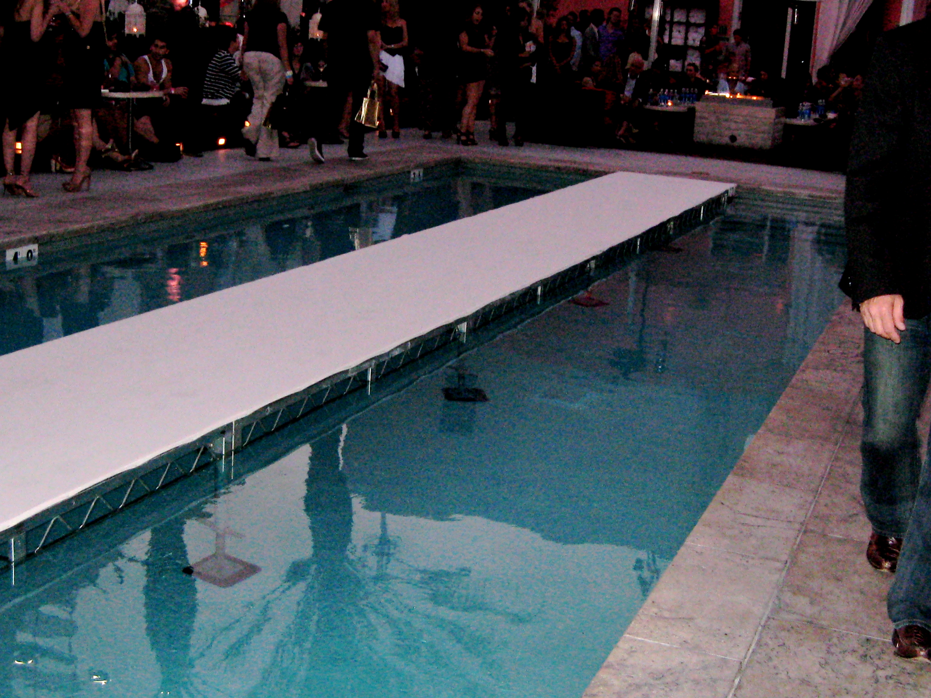 Style la swim and resort runway fashion show the wright for Pool fashion show