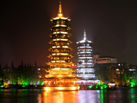 China-7571 - Sun and Moon Towers
