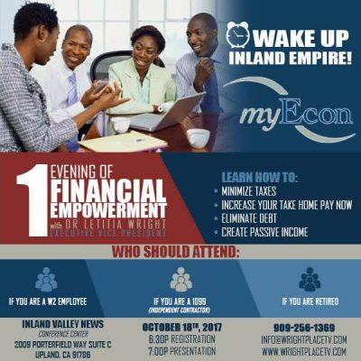 Wake Up Inland Empire- Oct 18th in Upland