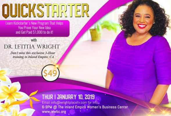 Quickstarter Class with Dr. Letitia Wright
